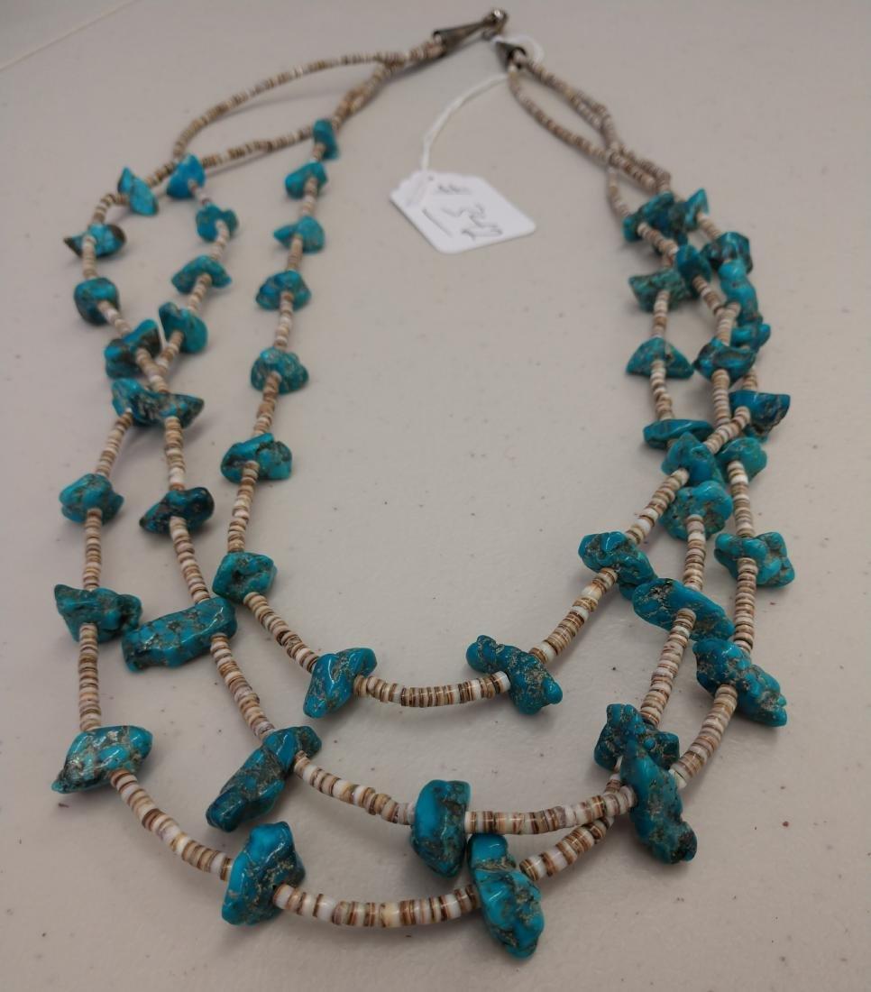 3 Strand Navajo Necklace - 2