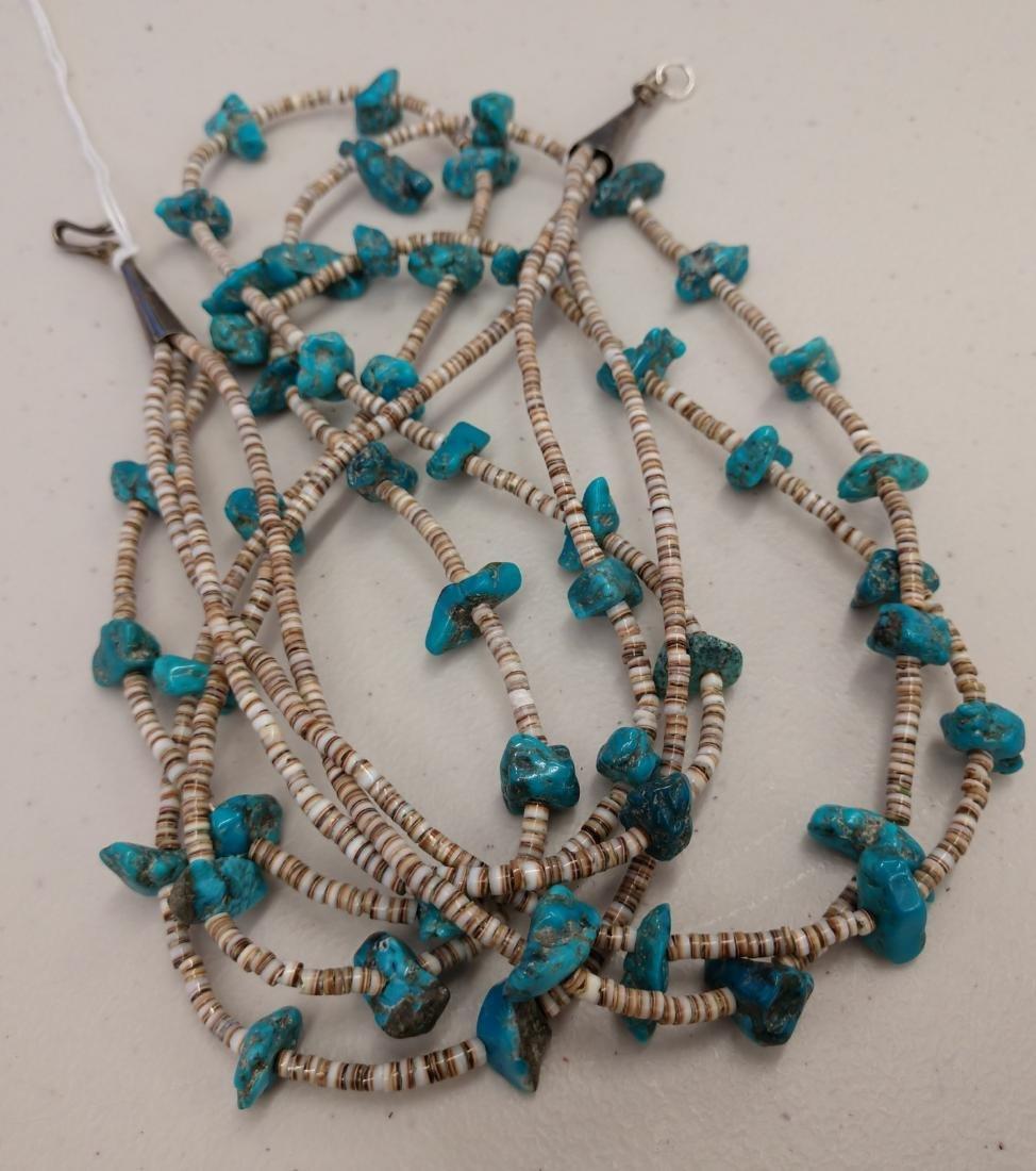 3 Strand Navajo Necklace - 7