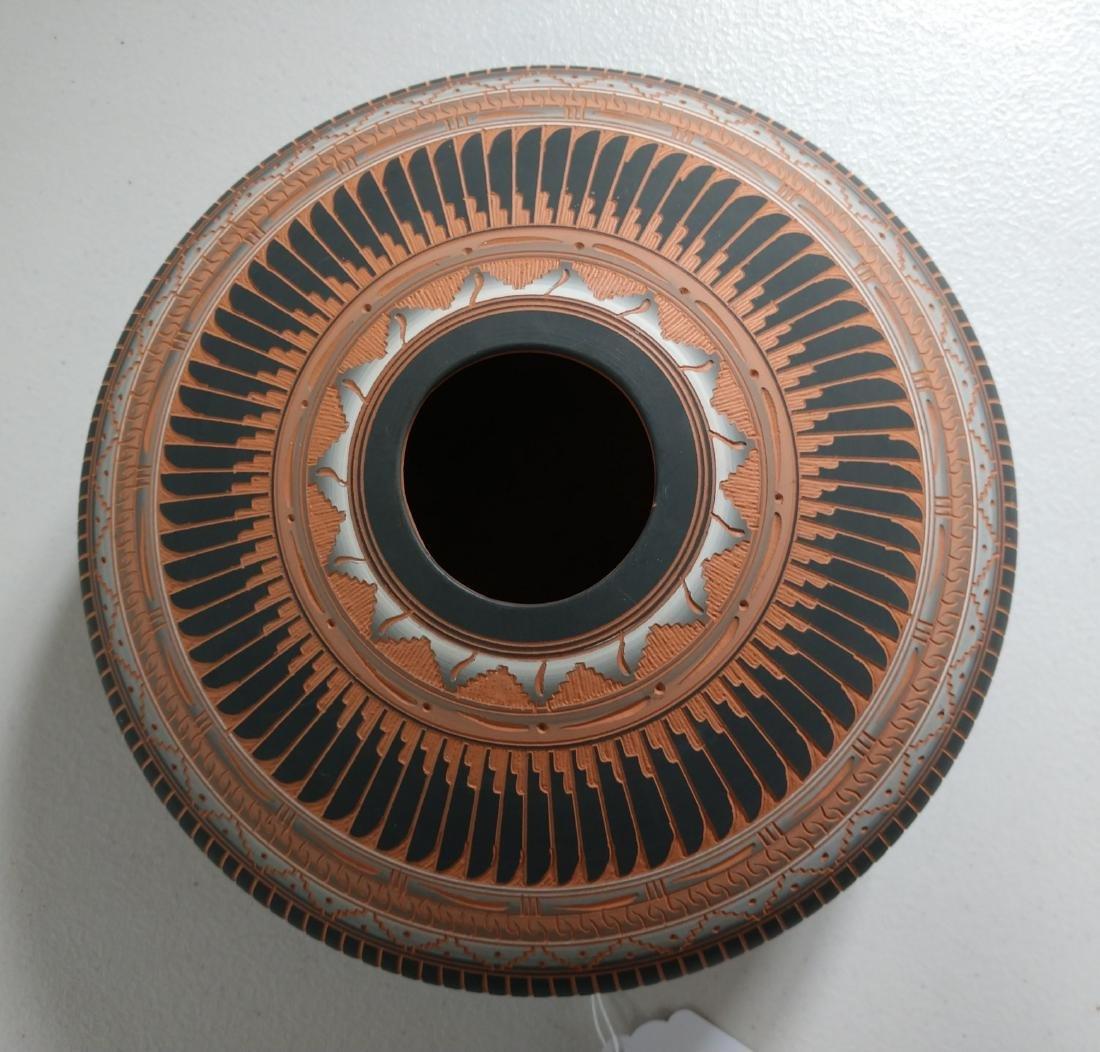 Navajo Carved Pot - 2