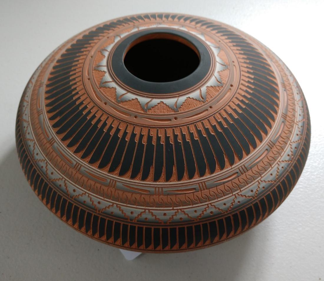 Navajo Carved Pot - 3