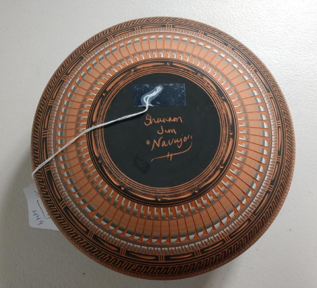 Navajo Carved Pot - 4