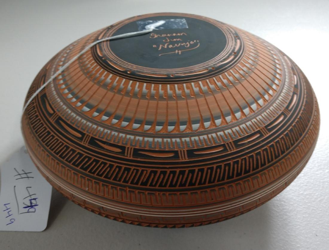 Navajo Carved Pot - 6