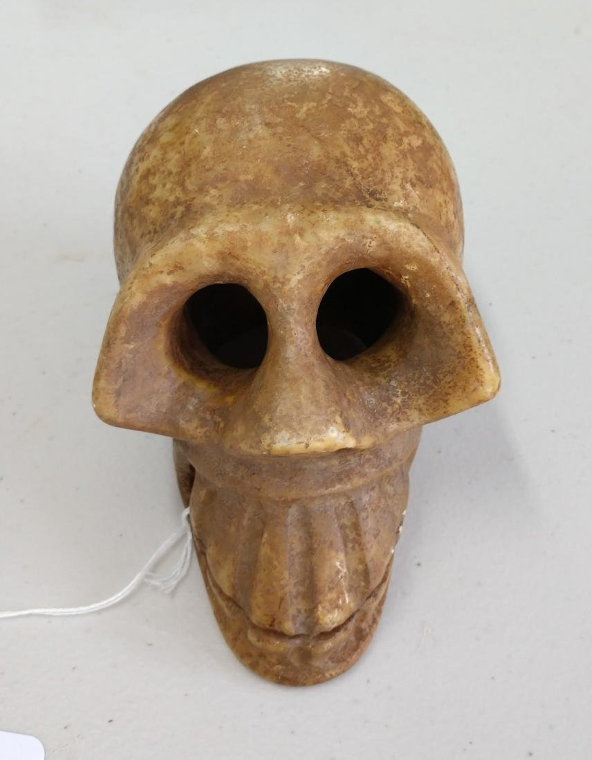 Stone Skull Carving