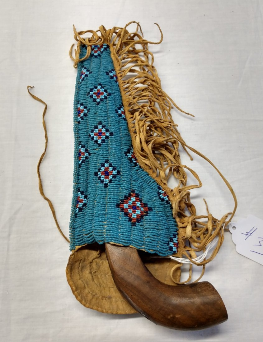 Cap and Ball Pistol w/Beaded Scabbard