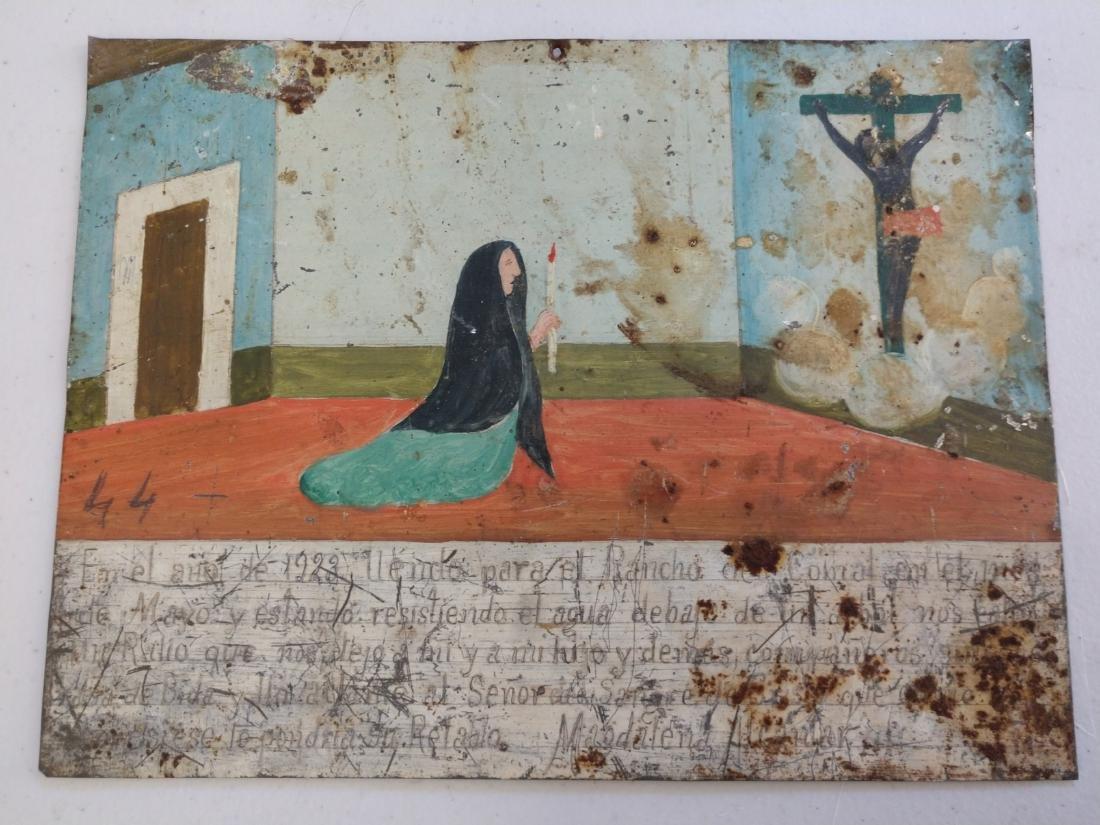Collection of Antique Catholic Retablos - 2
