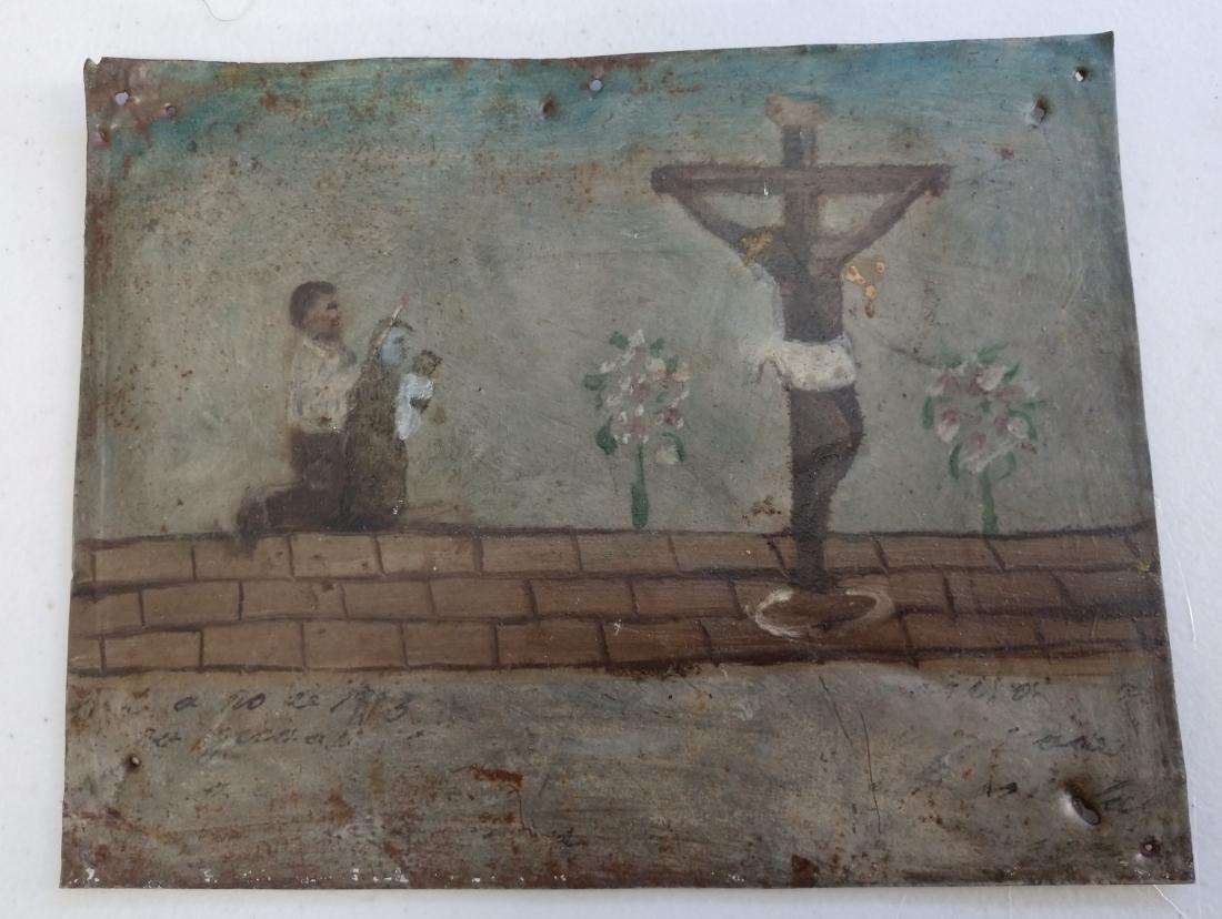 Collection of Antique Catholic Retablos - 3