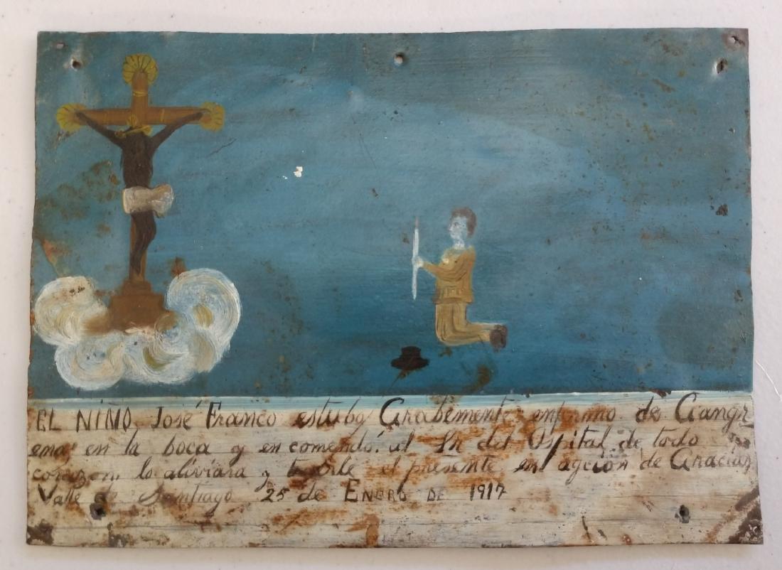 Collection of Antique Catholic Retablos - 4