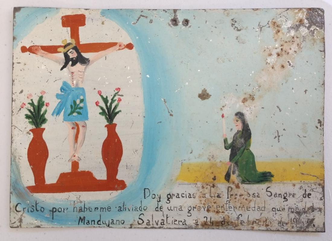 Collection of Antique Catholic Retablos - 5