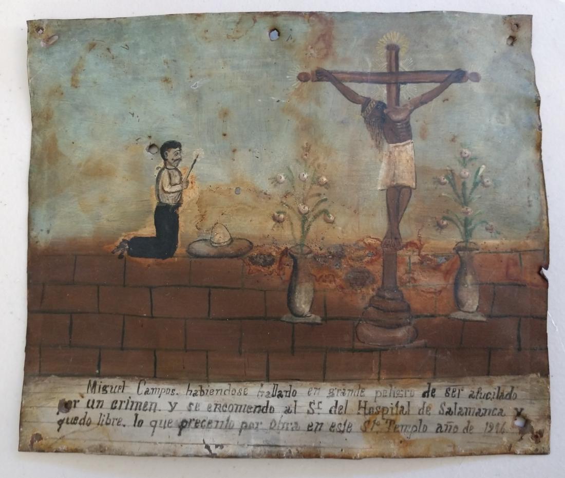 Collection of Antique Catholic Retablos - 7