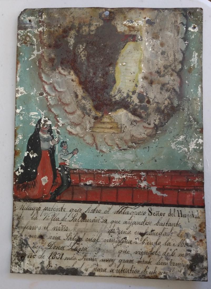 Collection of Antique Catholic Retablos - 8