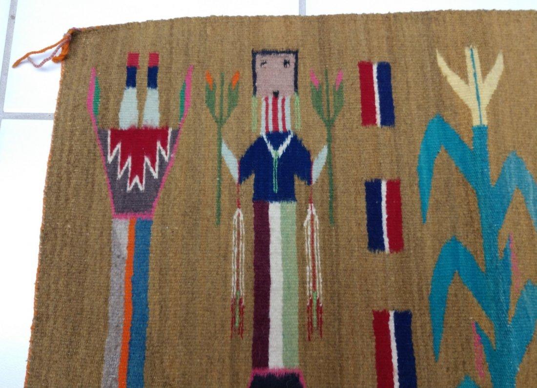 Navajo Yei Weaving - 2