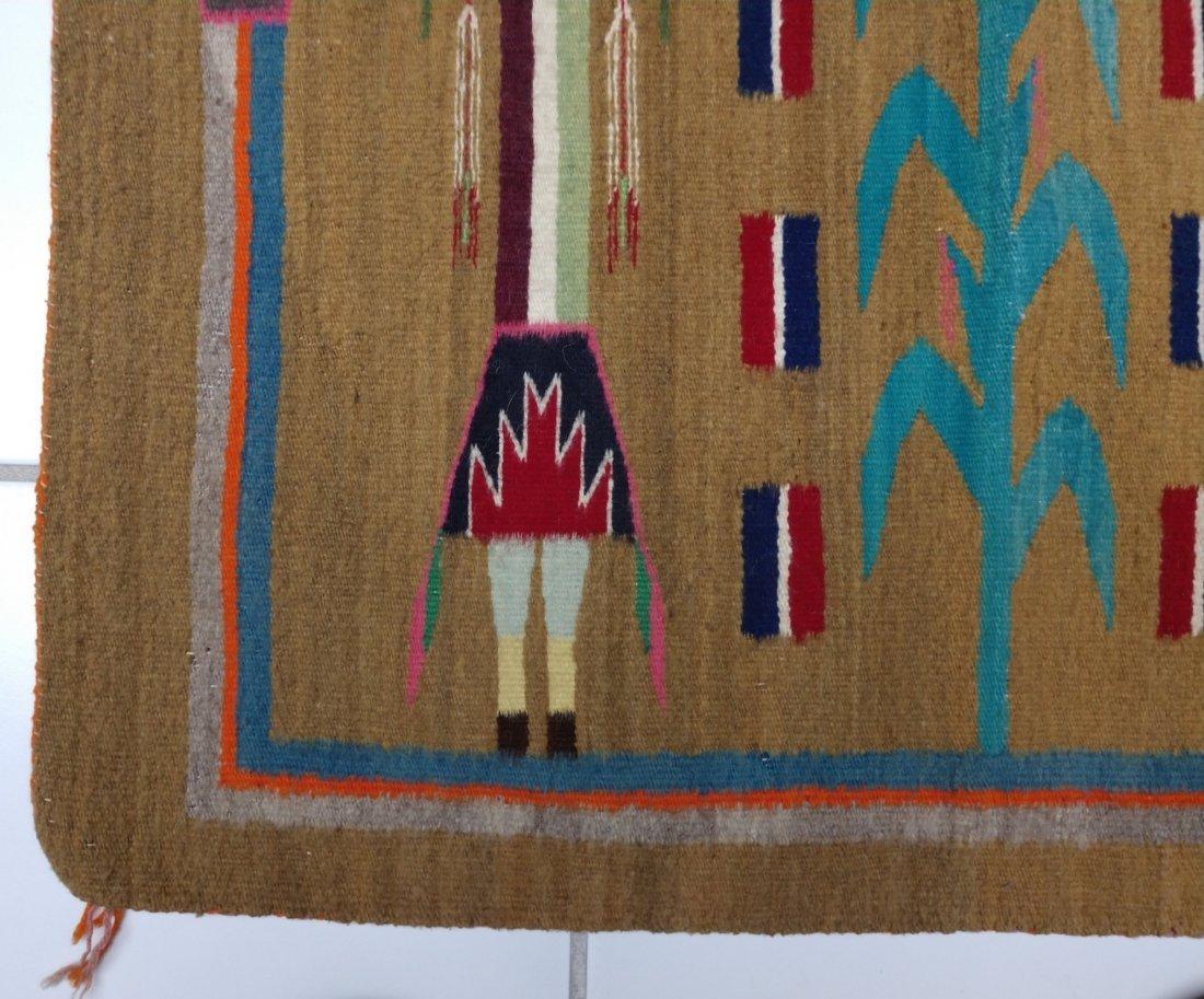 Navajo Yei Weaving - 3