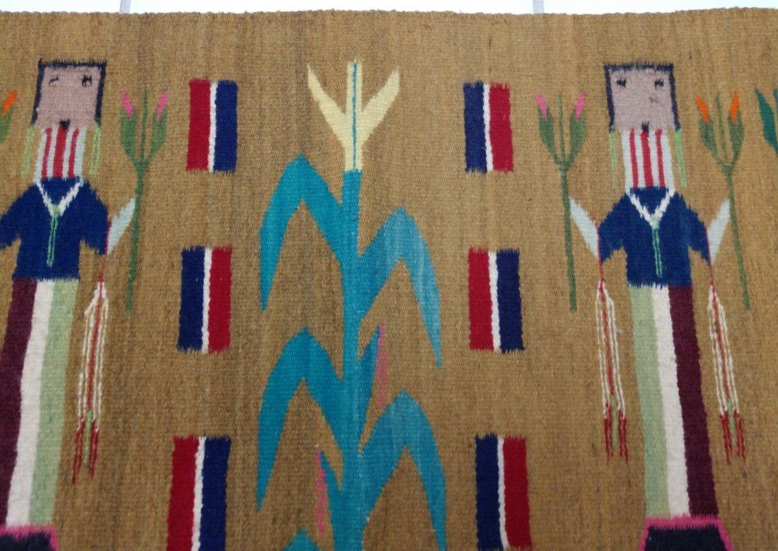Navajo Yei Weaving - 4