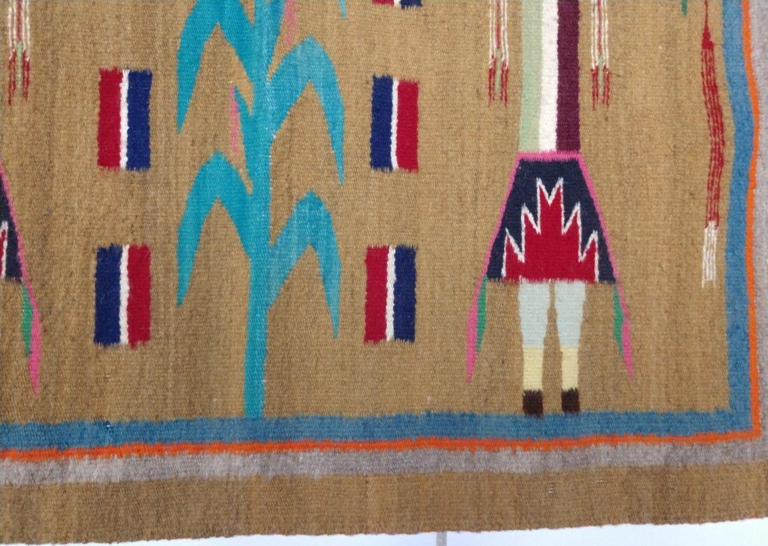 Navajo Yei Weaving - 5