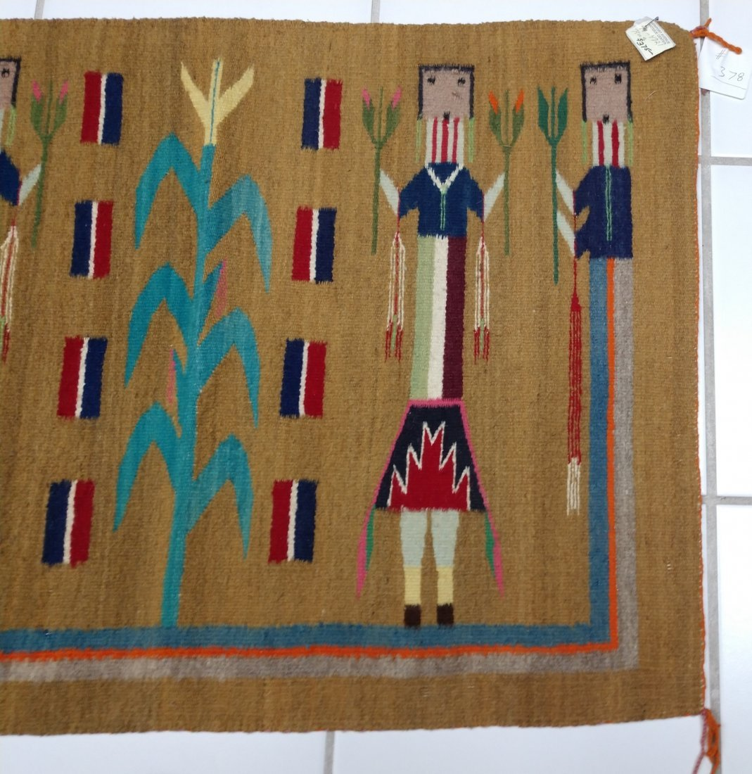 Navajo Yei Weaving - 6