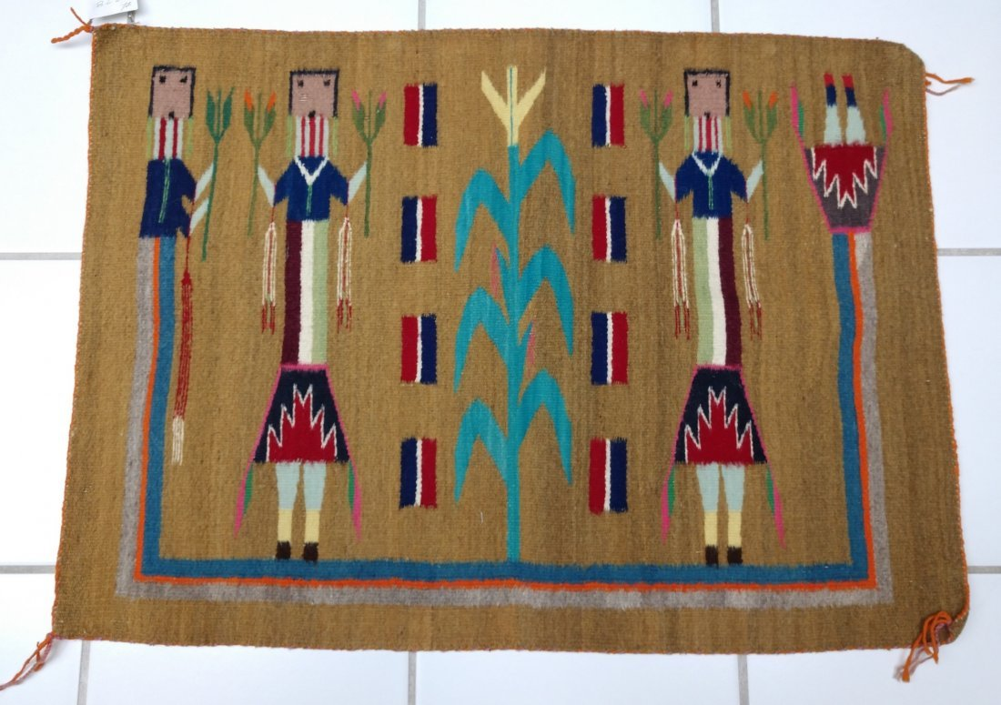 Navajo Yei Weaving - 7