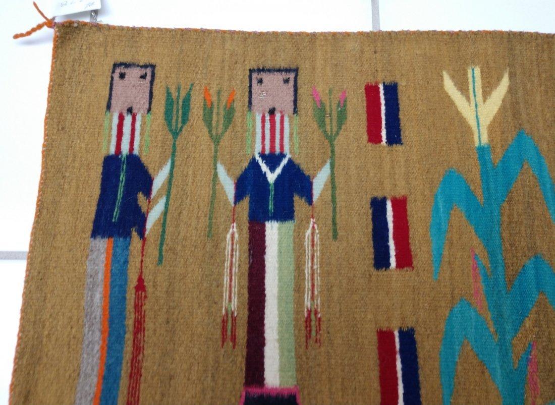 Navajo Yei Weaving - 8