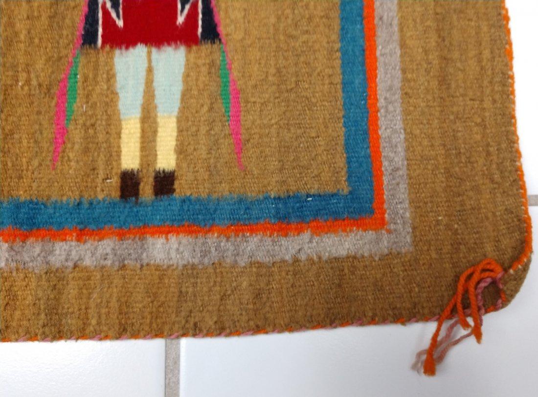Navajo Yei Weaving - 9