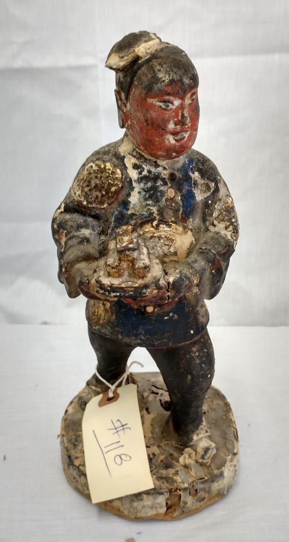 Chinese Wood Figure w/John Jordan COA