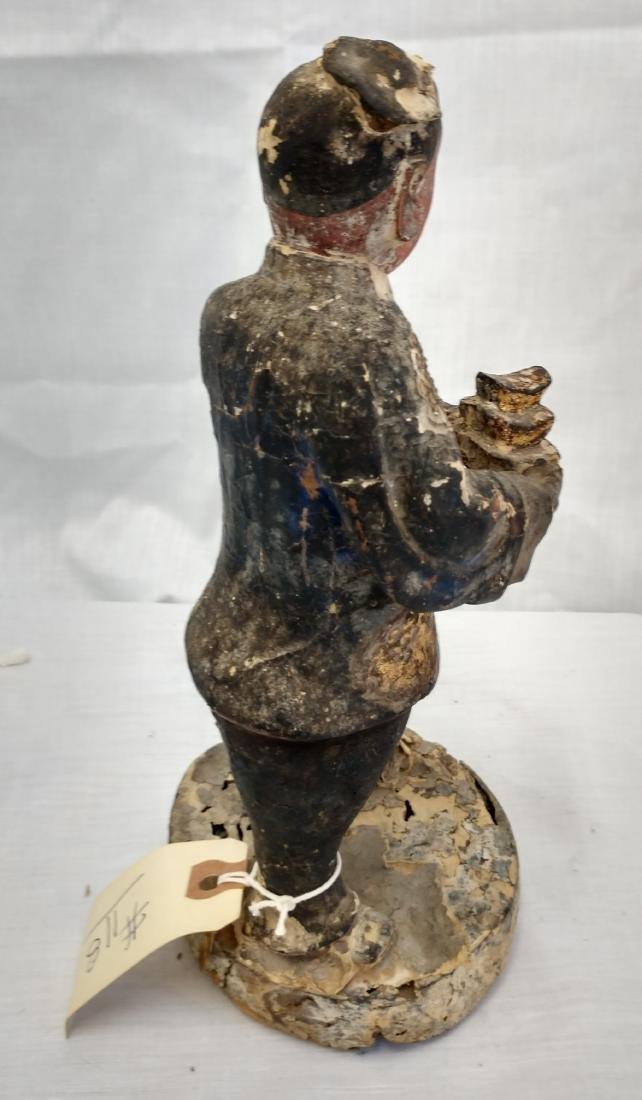 Chinese Wood Figure w/John Jordan COA - 2