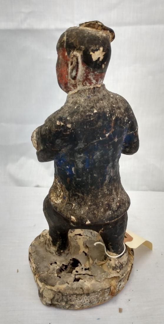 Chinese Wood Figure w/John Jordan COA - 3