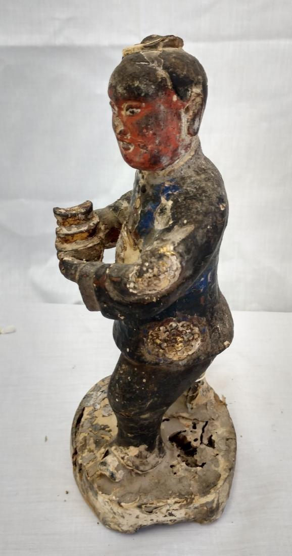 Chinese Wood Figure w/John Jordan COA - 4