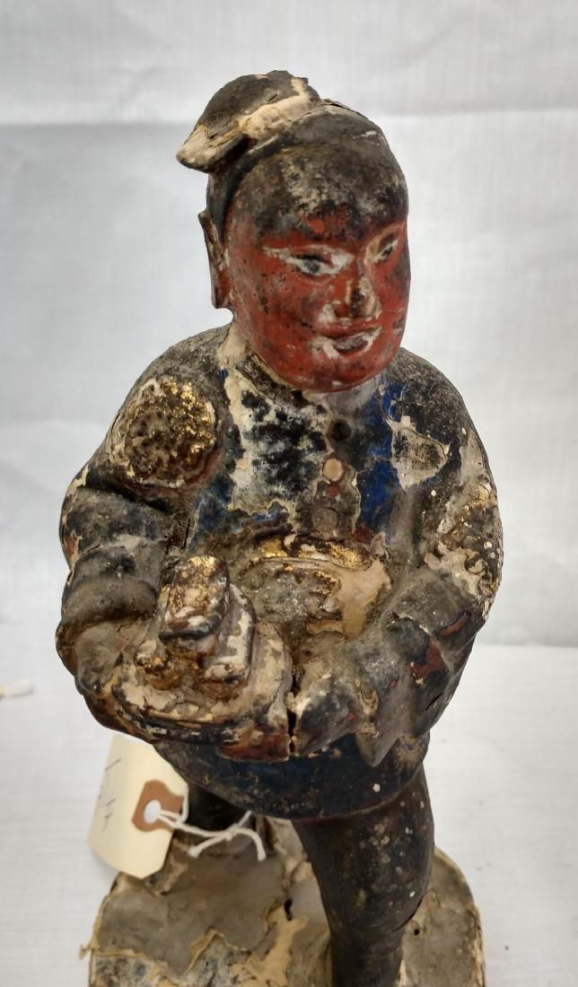 Chinese Wood Figure w/John Jordan COA - 5