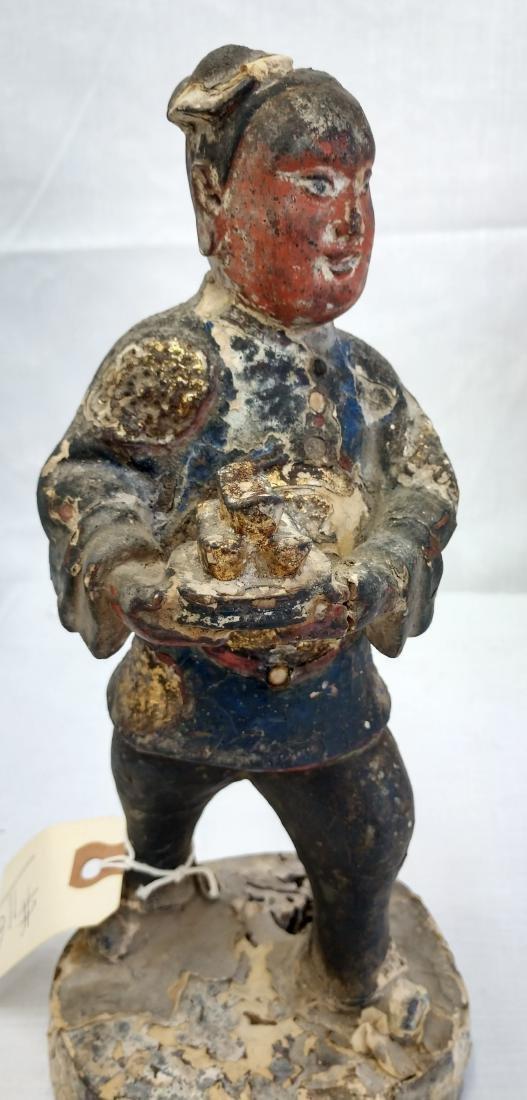Chinese Wood Figure w/John Jordan COA - 7