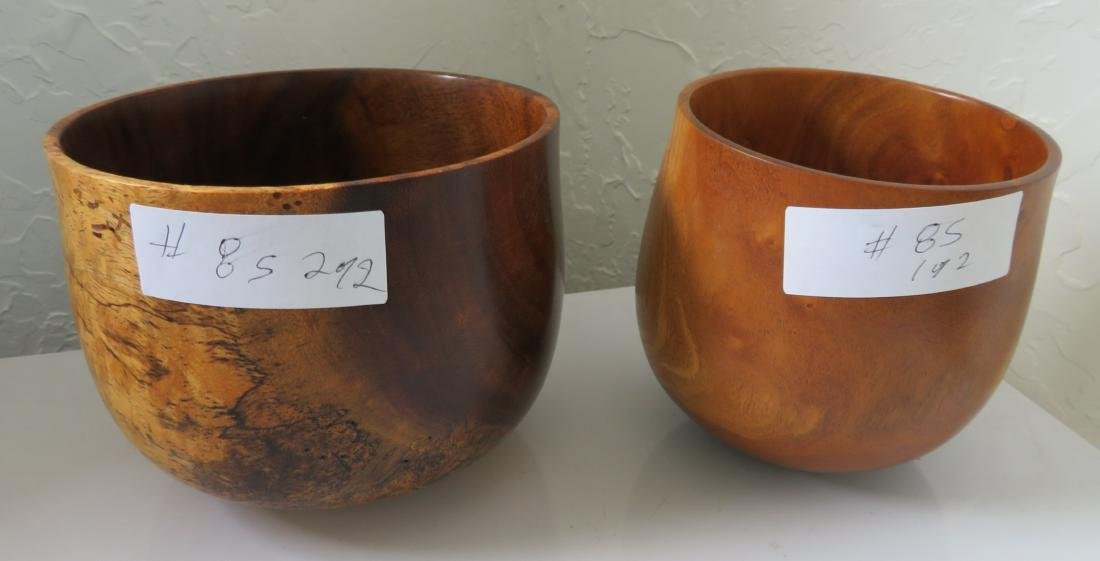 2 Hawaiian Wood Bowls