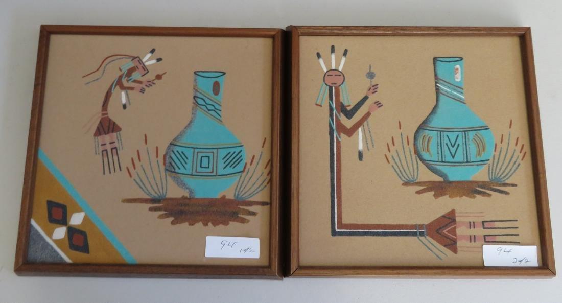 Pair of Navajo Sand Paintings