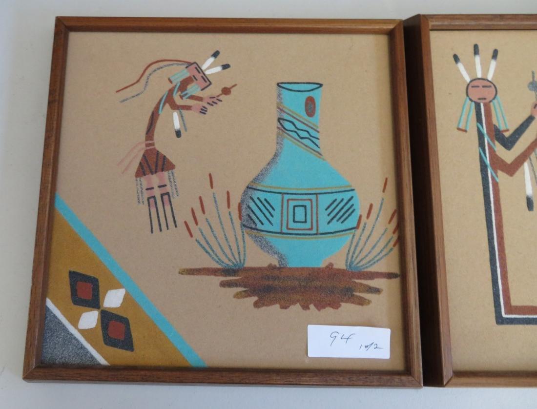 Pair of Navajo Sand Paintings - 2