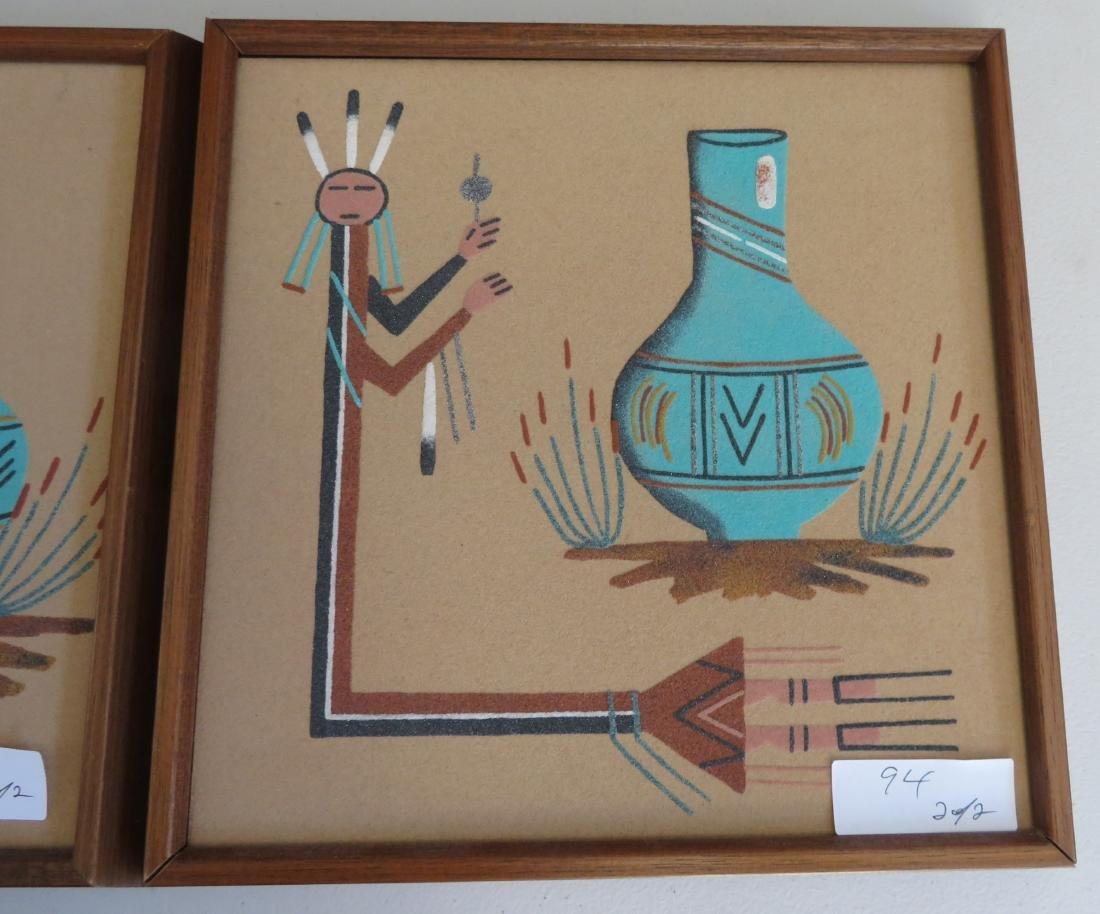 Pair of Navajo Sand Paintings - 3