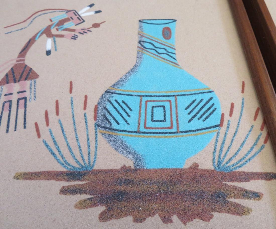 Pair of Navajo Sand Paintings - 4