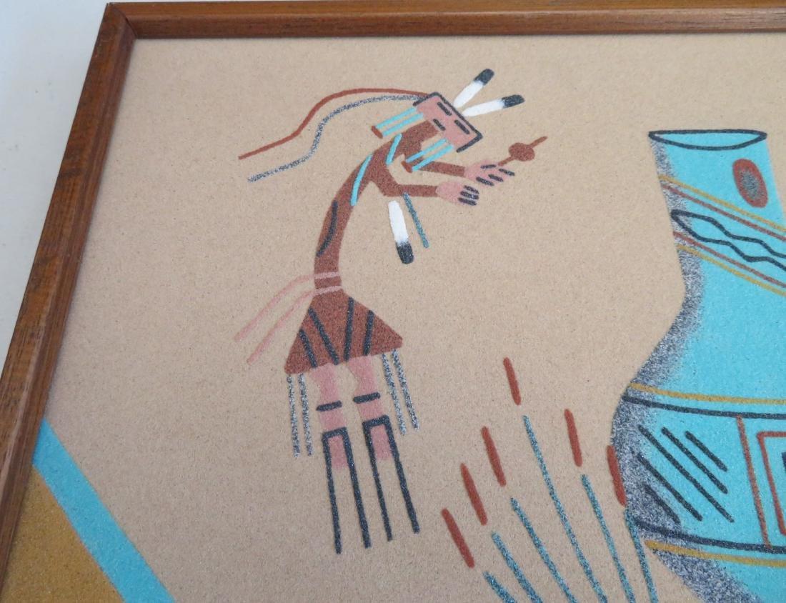 Pair of Navajo Sand Paintings - 5