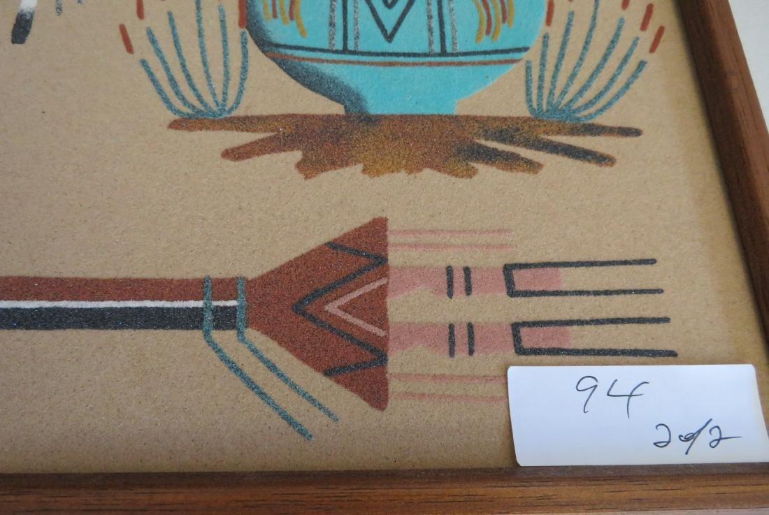 Pair of Navajo Sand Paintings - 6