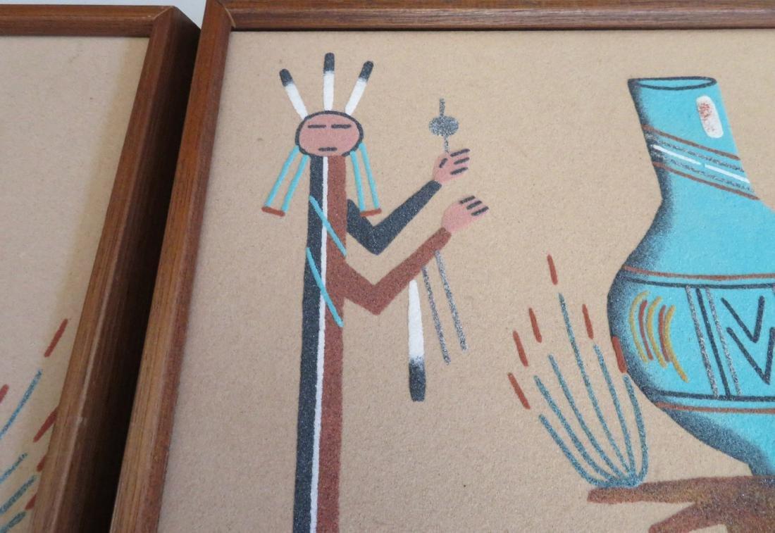 Pair of Navajo Sand Paintings - 7