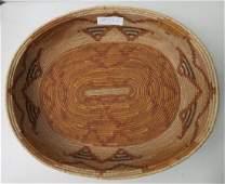 Large Polychrome Mission Basket