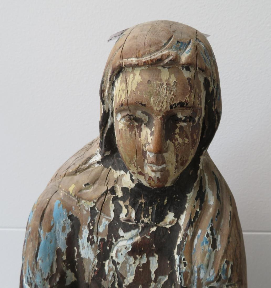 16th Century Japanese Christian Virgin Mary Carving - 4