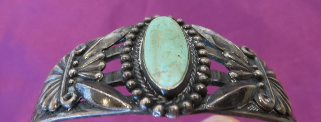 Sterling Silver & Turquoise Cuff - 7
