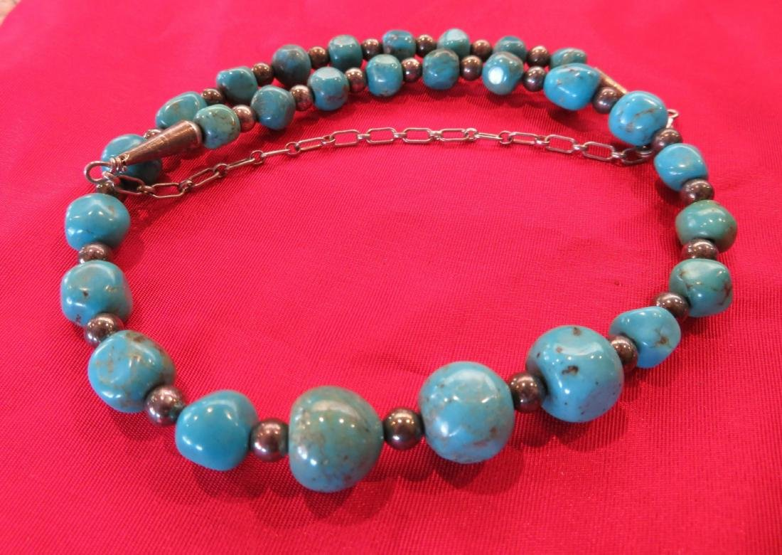 2 Navajo S.S. & Turquoise Necklaces - 10