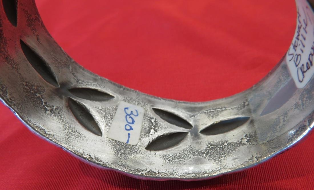 Navajo Tufa Cast Bracelet w/Turquoise - 9