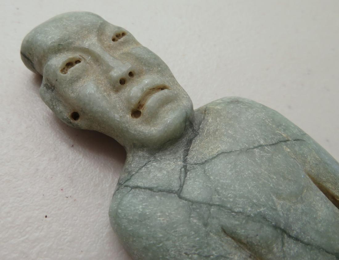 Jade Olmec Human Figure - 4