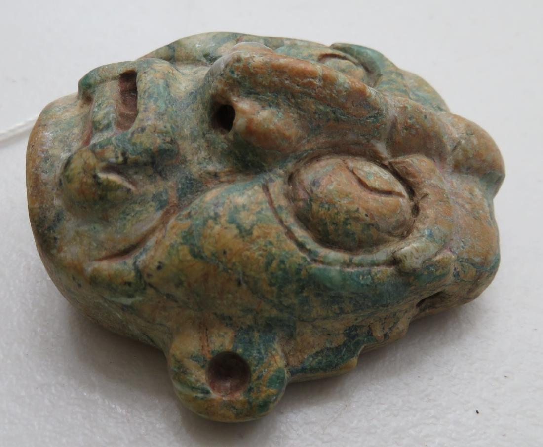 Authentic Mayan Stone Mask - 3