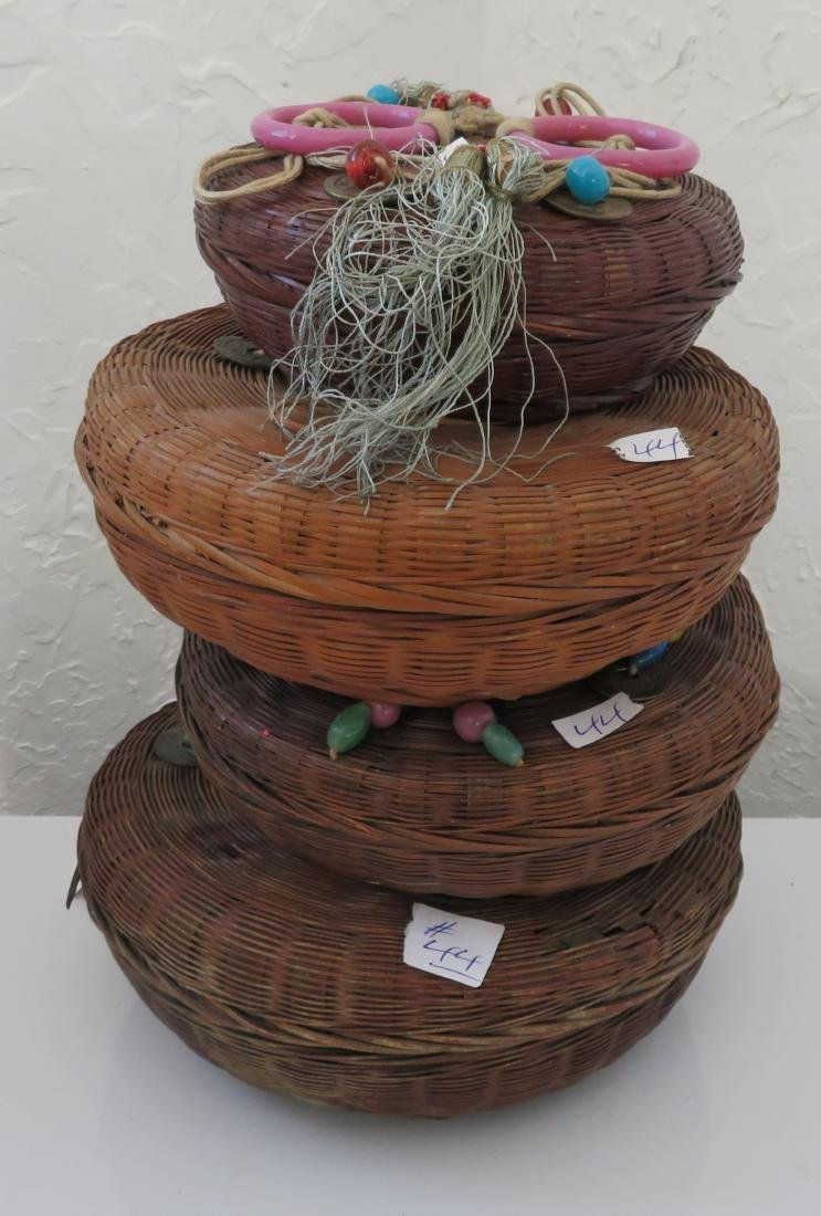 4 Antique Chinese Baskets
