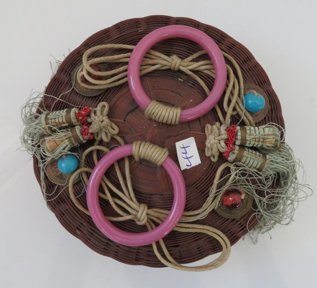 4 Antique Chinese Baskets - 5