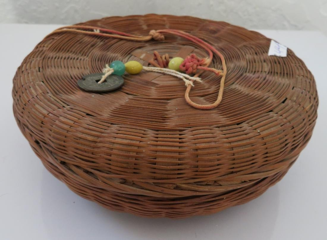 4 Antique Chinese Baskets - 6