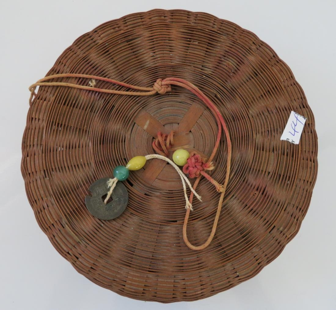 4 Antique Chinese Baskets - 7