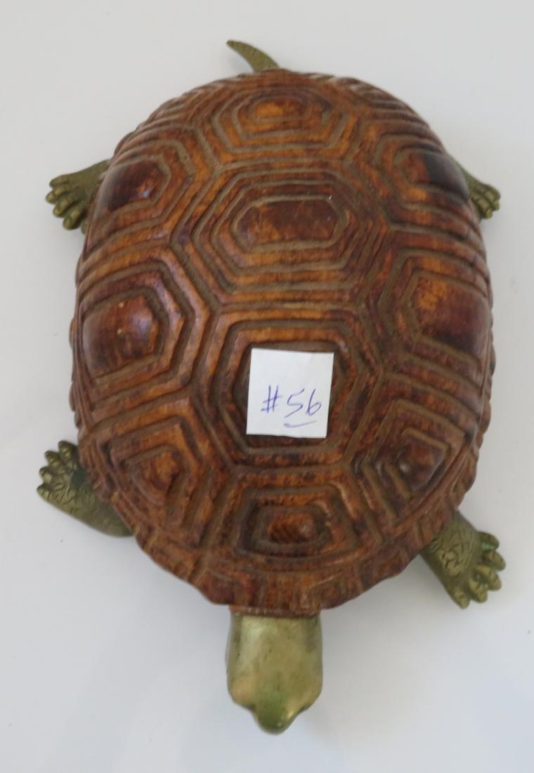 Wood & Brass Turtle - 2