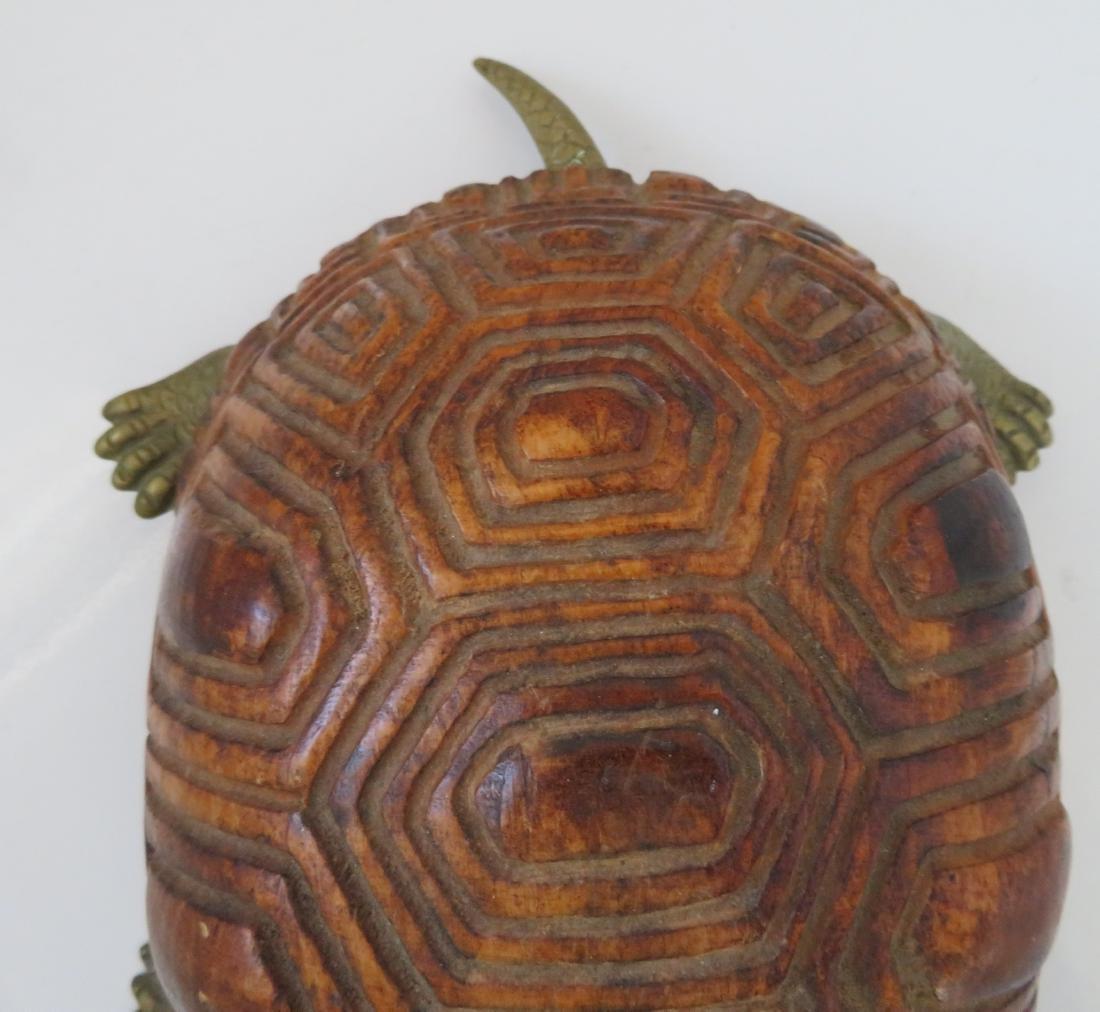 Wood & Brass Turtle - 4