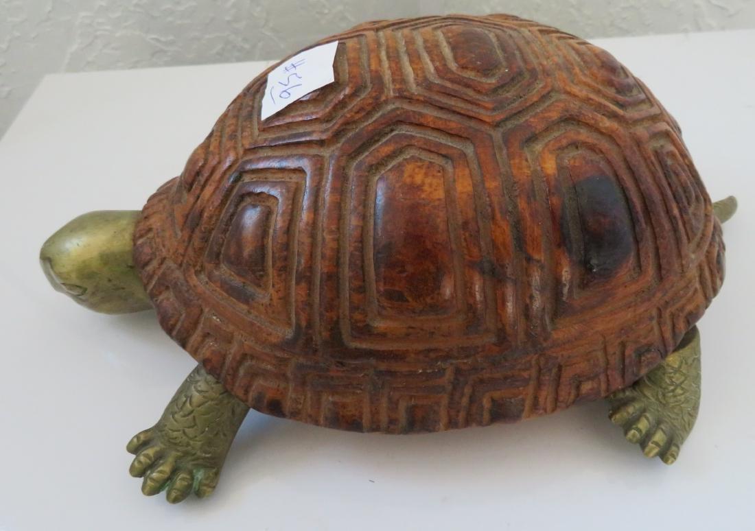 Wood & Brass Turtle - 5